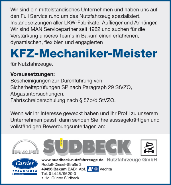 KFZ-Mechaniker-Meister